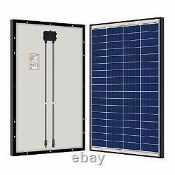 RICH SOLAR 100 Watt 12 Volt Polycrystalline Solar Panel Black Frame for RV Tr