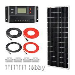 RICH SOLAR 100 Watts 12 Volts Monocrystalline Solar Kit