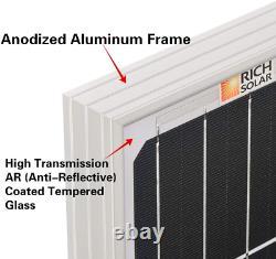 RICH SOLAR 170 Watt 12 Volt Moncrystalline Solar Panel High Efficiency Solar Off