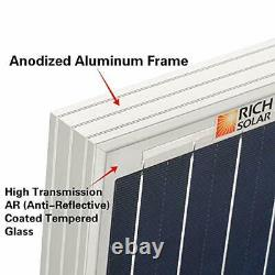 RICH SOLAR 2 Pieces 100 Watt 12 Volt Polycrystalline Solar Panel High Efficie