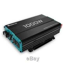 Renogy 1000-Watt Solar 12-Volt Pure Sine Wave Off Grid Battery Inverter with