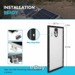 Renogy 100W Watt 12V Volt Mono Solar Panel 100W Black Frame Sleek New Design