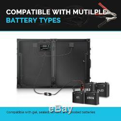 Renogy 100W Watt 12 Volt Monocrystalline Foldable Solar Suitcase With 10A Voyager