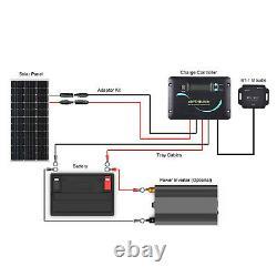 Renogy 100Watt 12Volt Mono Solar Panel RV Kit With 30A PWM Solar Charge Controller