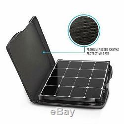 Renogy 100 Watt 12 Volt Eclipse Monocrystalline Off Grid Portable Foldable 2P