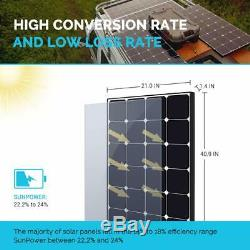Renogy 100 Watt 12 Volt Eclipse Monocrystalline Solar Panel High Efficiency Modu