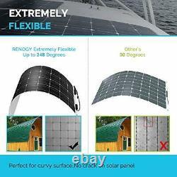 Renogy 100 Watt 12 Volt Extremely Flexible Monocrystalline Solar Panel ETFE