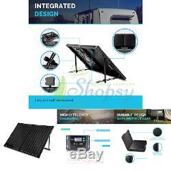 Renogy 100 Watt 12 Volt Monocrystalline Foldable Portable Solar Suitcase with