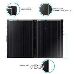 Renogy 100-Watt 12-Volt Monocrystalline Foldable Suitcase Off-Grid Solar Power