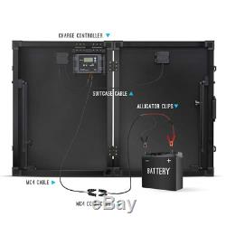 Renogy 100 Watt 12 Volt Monocrystalline Off Grid Portable Foldable 2Pcs 50W S