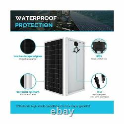 Renogy 100 Watt 12 Volt Monocrystalline Solar Panel Compact Design