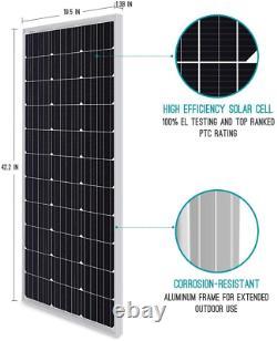 Renogy 100 Watt 12 Volt Monocrystalline Solar Panel, Compact Design, Caravan