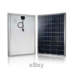Renogy 100-Watt 12-Volt Polycrystalline Solar Panel RV Boat Back-Up System 229