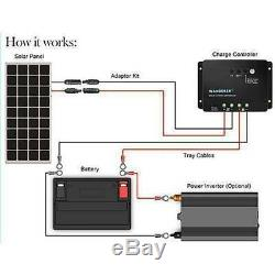 Renogy 100 Watt 12 Volt Solar Starter Kit Monocrystalline Solar Panel