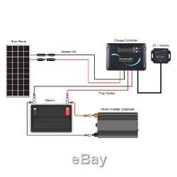 Renogy 100 Watts 12 Volts Monocrystalline Solar RV Kit with Adventurer