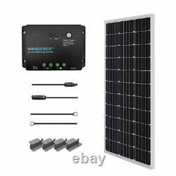 Renogy 100 Watts 12 Volts Monocrystalline Solar Starter Kit +30A PWM Controller