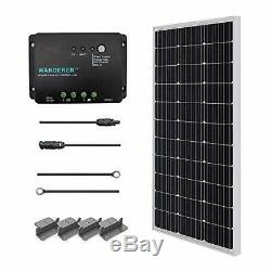 Renogy 100 Watts 12 Volts Monocrystalline Solar Starter Kit, New