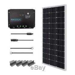 Renogy 100 Watts 12 Volts Monocrystalline Solar Starter Kit PWM 30A