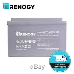 Renogy 12V Volt 100Ah Deep Cycle AGM Battery Rechargeable Solar Energy Storage