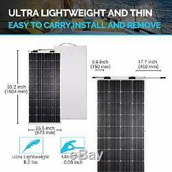Renogy 160 Watt 12 Volt Extremely Flexible Monocrystalline Solar Panel Ultr