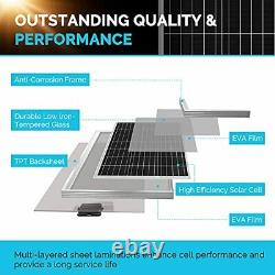 Renogy 200 Watt 12 Volt 24 Volt Monocrystalline Solar Starter Kit with 40A Rover