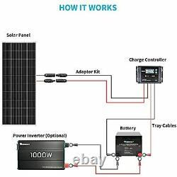 Renogy 200 Watt 12 Volt Monocrystalline Solar Panel, Compact Design 63.8×25.9×1.4