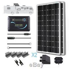 Renogy 200 Watt 12 Volt Monocrystalline Solar RV Kit with Bluetooth Module