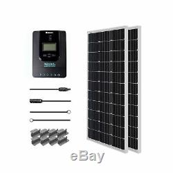Renogy 200 Watt 12 Volt Monocrystalline Solar Starter Kit with 40A Rover MPPT C