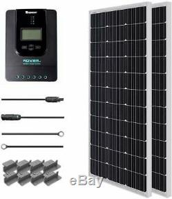 Renogy 200 Watt 12 Volt Monocrystalline Solar Starter Kit with 40A Rover MPPT Char