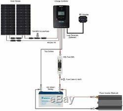 Renogy 200 Watt 12 Volt Off Grid Premium Monocrystalline Solar Panel With 20A Mp