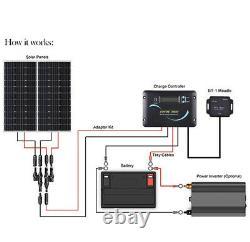 Renogy 200 Watt 12 Volt Solar RV Kit RNG-KIT-RV200D-ADV30