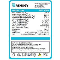 Renogy 200 Watts 12 Volts Monocrystalline Solar Bundle Kit