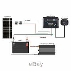 Renogy 200 Watts 12 Volts Monocrystalline Solar Panel Charging RV Kit Off-Grid