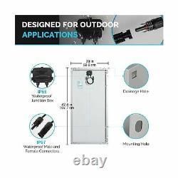 Renogy 200 Watts 12 Volts Monocrystalline Solar RV Kit Off-Grid Kit with Adve