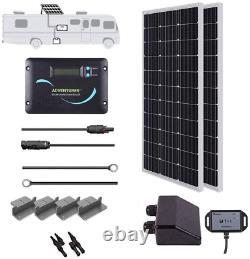 Renogy 200 Watts 12 Volts Monocrystalline Solar RV Kit Off-Grid Kit with Adventu