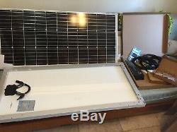Renogy 2Pcs 200 Watt 12 Volt Solar Starter Kit, RNG-KIT-STARTER200D-WND30