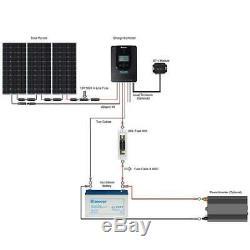 Renogy 300 Watt 12 Volt Off Grid Solar Premium Kit with Monocrystalline Solar Pa