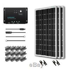 Renogy 300 Watt 12 Volt Solar Starter Kit with Monocrystalline Panels