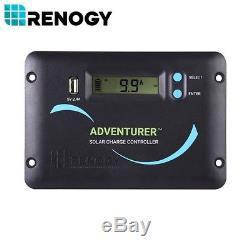 Renogy 320 Watt 12 Volt Flexible Solar Panel Kit 300W 12V Van RV Battery Charger