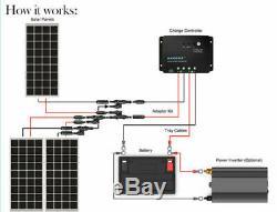 Renogy 3 X 100 Watt 12 Volt Solar Panels Starter Kit with Monocrystalline Panels