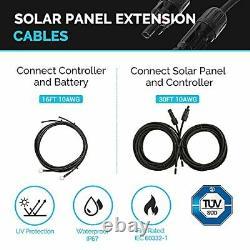 Renogy 400 Watts 12 Volts Monocrystalline Solar RV Kit Off-Grid Kit with Adventu