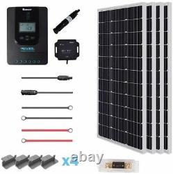 Renogy 40A 400 Watt 12 volt Off Grid Solar Kit RNG-KIT-PREMIUM400D-RVR40