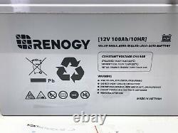 Renogy AGM 12-Volt Battery 100Ah Wide Operation Temperature Range