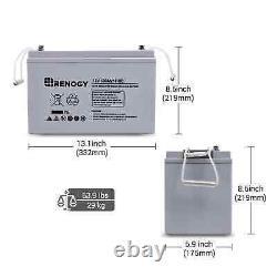 Renogy Deep Cycle AGM Battery 12 Volt 100Ah 100Ah AGM Grey