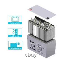 Renogy Deep Cycle AGM Battery 12 Volt 100Ah 100Ah AGM White 100Ah AGM