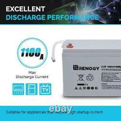Renogy Deep Cycle AGM Battery 12-Volt 100Ah for Solar Panel