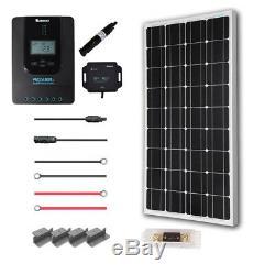 Renogy New 100 Watt 12 Volt Monocrystalline Solar Premium Kit withBluetooth