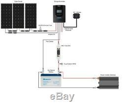 Renogy New 300 Watt 12 Volt Monocrystalline Solar Premium Kit withBluetooth