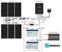 Renogy New 600 Watt 24 Volt Monocrystalline Solar Premium Kit withBluetooth