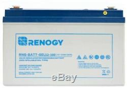 Renogy Pure GEL Battery For Solar Panel 12 Volt 100Ah Deep Cycle Power Supply